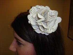Big, bold, beautiful and hotglued to a plastic headband.